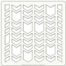 "Artistic Flair, Craft Stencil 101 Range - (4"" x 4"") - Chevron Segments"